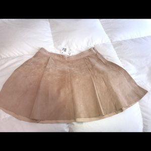 Suede pleated H&M skirt, size 12.